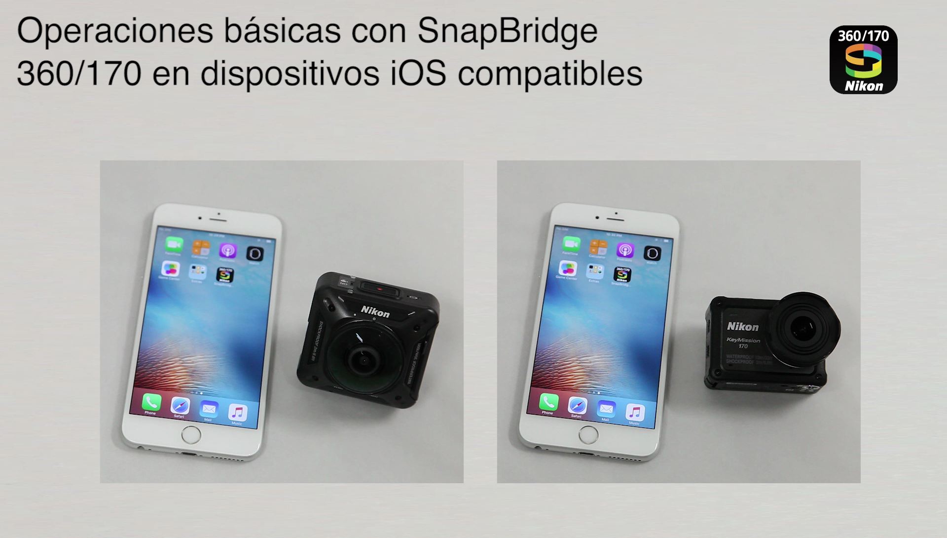 SnapBridge KeyMission 360/170 iOS