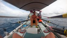 Smooth rowing across the Java Sea towards Bawean | Grant 'Axe' Rawlinson | Rowing from Home to Home | Bangka a Bawean